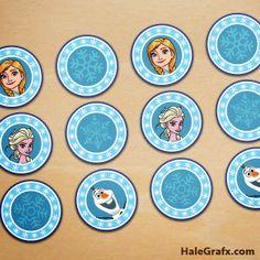 Kit Gratis para Fiestas de Frozen.