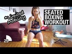30Min Seated Cardio Boxing Workout for Disabled, Injured, Paraplegic or Amputee - YouTube