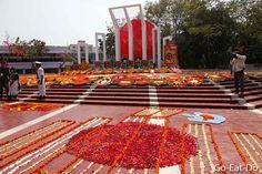 Commemorating International Mother Language Day in Dhaka.