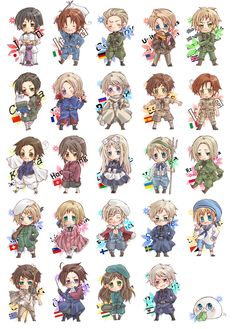 Chibi!Hetalia  Adorableness right here, people!!