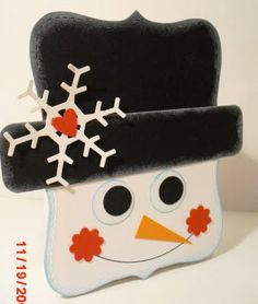 Snowman Punch Art from Top Note Die Christmas Paper Crafts, Christmas Gift Tags, Holiday Cards, Christmas Cards, Christmas Decor, Scrapbooking, Scrapbook Paper Crafts, Scrapbook Cards, Paper Crafting