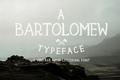 """Check out this @Behance project: """"BARTOLOMEW - FREE FONT"""" https://www.behance.net/gallery/38572145/BARTOLOMEW-FREE-FONT"""