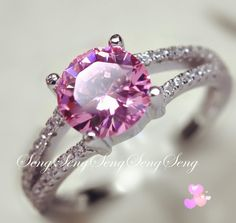 SZ 5-11 Genuine 925 Sterling Silver Pink CZ Ring. Starting at $10 on Tophatter.com!