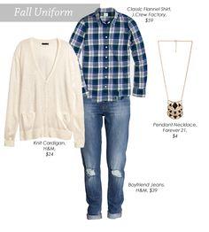 Viva Fashion: Fall Uniform: Boyfriend Jeans & Plaid