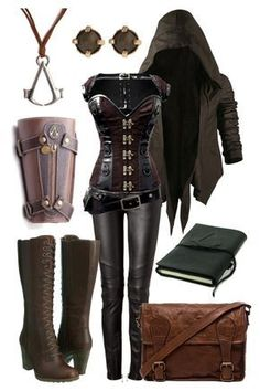 """Assassin's Creed Inspired Outfit"" by onlyonecheesecake ❤ liked on Polyvore featuring Nicholas K, Balmain, Timberland, VIPARO, Maria Francesca Pepe, Bioworld, women's clothing, women's fashion, women and female"