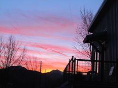 sun leaves god halo/ cherry wash across evening blue—/ storm coming #haiku #sunset #Colorado