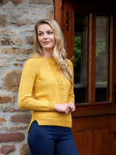 Gorgeous cabled sweater knitting pattern for autumn in West Yorkshire Spinners The Croft 100% Shetland Wool DK - Alba Sweater Knitting Patterns, Crochet Patterns, Shetland Wool, West Yorkshire, Autumn Theme, Autumnal, Knit Crochet, Turtle Neck, Stitch