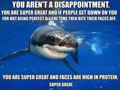 Positive self-esteem shark…