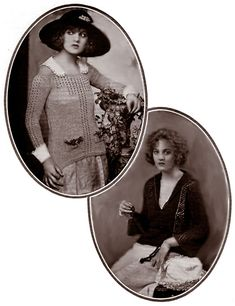 The Wellington and Medlock sweaters From Fleisher's Knitting and Crocheting Manual, 1922