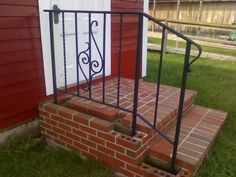 stair railing hand forged