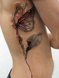 Butterfly tattooed ass hole