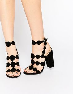 Public Desire Farah black heeled #sandals are the perfect pair of #shoes to wear when you go out this weekend!