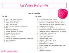 Ma Valise Maternité (avec liste à imprimer dedans) - Ju2Framboise