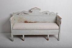 Swedish 19thC Sofa Bench in Original Paint