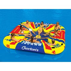 Amazon.com: Emperor Island Party Lounge Raft River Lake Dock Inflatable: Sports & Outdoors
