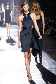 Lanvin provided a sleek take on the little black dress. #ParisFashionWeek
