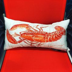 Give your #outdoorspace a #nautical feel  with a #supercute #lobster #lumbarpillow. @target  for $14.99