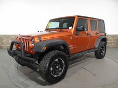 2011 Orange Jeep Wrangler Unlimited Sport http://www.iseecars.com/used-cars/used-jeep-wrangler-for-sale#results