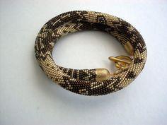 Emek Pinari Necklace Beaded Crochet Necklace by NAZLI70 on Etsy, $105.00