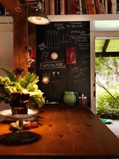 ...love a chalkboard wall in the kitchen