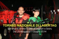 Il 29 Maggio gli atleti e le squadre di 9 città Italiane partecipanti al Torneo nazionale di Lasertag arrivano in Sardegna per aprire l'arena e dare inizio all'ottava edizione di questo torneo e per le giornate intere del 30 e 31 Maggio si scontrano per accedere alle finali del 1 Giugno 2014!