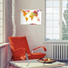 world map maps atlas colored watercolor Illustration