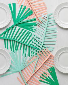 Palm Leaf Table Runner & Video | Martha Stewart