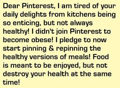 Pinterest you will not make me obese, no matter how hard you are trying on a daily basis!