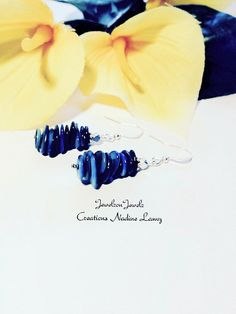 Shell Earrings//Blue Earrings//Beach by JewelzonJewelz on Etsy