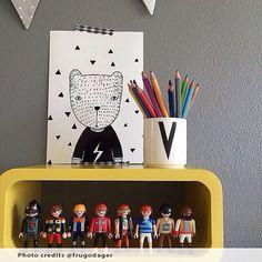 Children wall art, Nursery art, kids wall art, kids room decor, printable sign, Black and White Nursery Art, Bear in T-Shirt, digital print