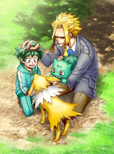 Cross-over! Pokémon x Boku no Hero Academia, My Hero Academia #bnha #mha [Izuku Midoriya, All Might]