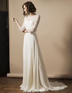 Robe de mariée dentelle sirène - 30 robes de mariée en dentelle repérées sur Pinterest - Elle