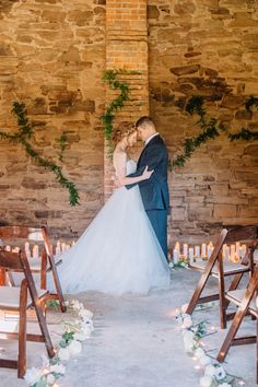 Love this brick ceremony! Reminds me of Tuscany! View the full wedding here: http://thedailywedding.com/2016/05/28/charleston-chic-wedding-inspiration/