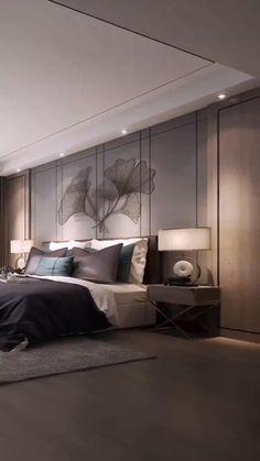Hotel Bedroom Design, Master Bedroom Interior, Modern Master Bedroom, Bedroom Furniture Design, Bedroom Interiors, Bedroom Ceiling, Modern Luxury Bedroom, Modern Bedroom Design, Luxurious Bedrooms