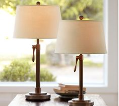 Drexel Heritage Glass And Lucite Table Lamps In Manhattan