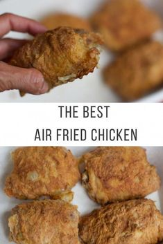 The best air fried chicken recipe (fried chicken legs) - # fried chicken . - The best air fried chicken recipe (fried chicken legs) – # Brathähnchenschenkel # Luf - Air Fryer Chicken Thighs, Fried Chicken Legs, Air Fryer Fried Chicken, Air Fried Food, Roast Chicken, Air Fryer Chicken Thigh Recipe, Air Fry Chicken, Teriyaki Chicken, Air Fryer Recipes Snacks