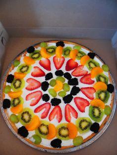 TMNT Birthday Party Fruit Pizza!