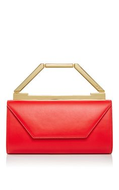 M'o Exclusive: Cherry Red Suede Noelle Bag by OWEN for Preorder on Moda Operandi