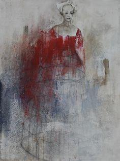 kvinna 02 ~ acrylic ~ by danka jaworska