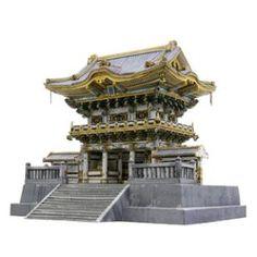 Toshogu-Schrein in Nikko (das Yomei-Tor), Japan,Architektur,Papiermodelle,Asien / Ozeanien,Japan,Tor,Welterbe,Gebaeude