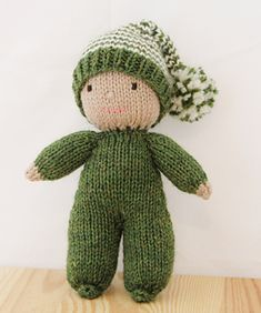 Ravelry: Acorn the Baby Elf Pattern by Rachel Borello Carroll - . Ravelry: Acorn the Baby Elf Pattern by Rachel Borello Carroll - Knitting , lace pr. Knitted Dolls Free, Knitted Doll Patterns, Knitting Patterns, Ravelry, Elf Doll, Doll Toys, Loom Knitting, Baby Knitting, Knitted Baby