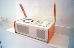 Braun record player designed by Dieter Rams