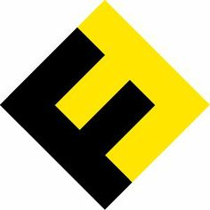 FontFont logo by Neville Brody . The yellow and black contrast against each other well.Which makes it stand out