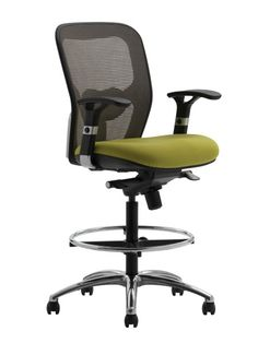 the adapt drafting chair features a mid size back, comfortable