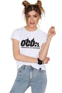 Obssessive Cat Disorder T-shirt – Meowingtons