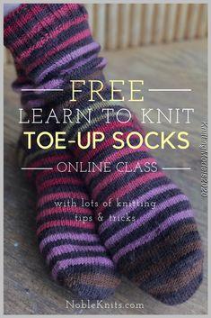 How to knit socks learn to knit socks sock knitting toe up socks free knitting pattern knitting tips Easy Knitting, Loom Knitting, Knitting Stitches, Knitting Socks, Knitting Machine, Vogue Knitting, Knitted Socks Free Pattern, Knitting Patterns Free, Stitch Patterns