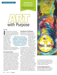 Art with Purpose #HighSchool #ArtLesson #ArtEd #ArtEducation #Drawing #Painting #SocialIssues