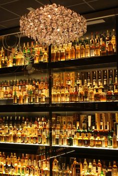 This is a bar in Scotland that just sells Single Malt Whisky. It has every single malt in Scotland. You can find it at the Scotch Whisky Experience near Edinburgh Castle, Edinburgh, Scotland. Scotch Whisky, Whisky Bar, Cigars And Whiskey, Whisky Tasting, Bar Pub, Café Bar, My Bar, Single Malt Whisky, Wine And Spirits
