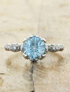 Priscilla | Ken & Dana Design aquamarine looks like it's straight out of The Great Gatsby :) $2650