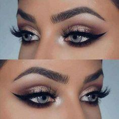 Eyes and eyeliner!